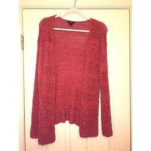 Pink crocheted cardigan